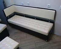 """Небольшой стильный диванчик """"Лайм"""" с боковой спинкой и утяжкой"""