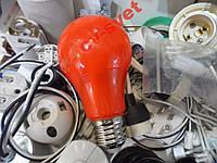 LED Лампа 3w цветная красная HOROZ / Spectra