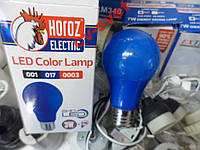 LED Лампа 3w цветная синяя HOROZ / Spectra