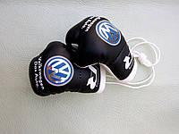 Боксерские перчатки в машину на стекло сувенир брелок  ЧЕРНЫЕ  Volkswagen