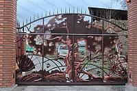 Автоматические откатные ворота кованые