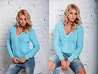 Женский свитер с косичками Турция