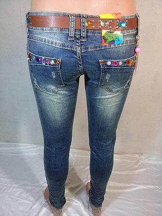 Женские джинсы узкие с манжетом  , фото 2