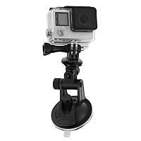 Крепление держатель на силиконовой присоске с переходником для экшн камер