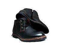 Ботинки мужские YDG Bellini c натуральной кожи черные