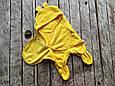 Универсальный махровый спальник, желтый, 6-12 мес., фото 2