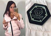 Куртка женская на синтепоне с нашивкой  P4154