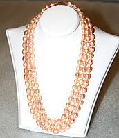 Колье из речного ЖЕМЧУГА персикового цвета