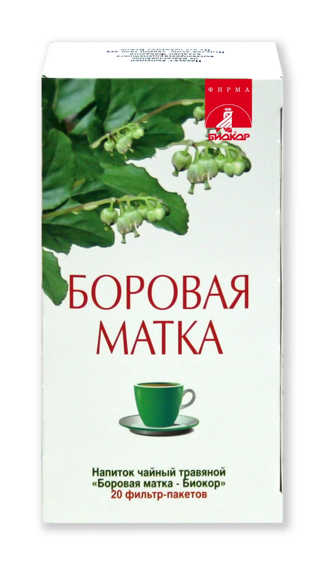 БОРОВАЯ МАТКА БИОКОР ЧАЙНЫЙ НАПИТОК 2Г №20Ф/П (БАД)