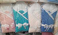 Конверт Одеяло. Вязанный Ажур. Для новорожденных. Демисезон