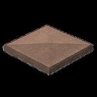 Крышка для столба 48х48х8 Коричневая