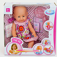 Кукла-пупс Warm Baby с аксессуарами (Беби Борн) 8009-438