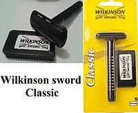 Классический станок Т-образный (бритва) для бритья Wilkinson sword+ 5 лезвий