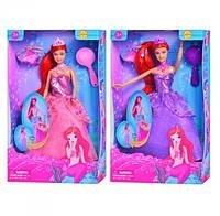 Кукла Defa Русалочка с аксессуарами 29 см, 2 цвета (8188)