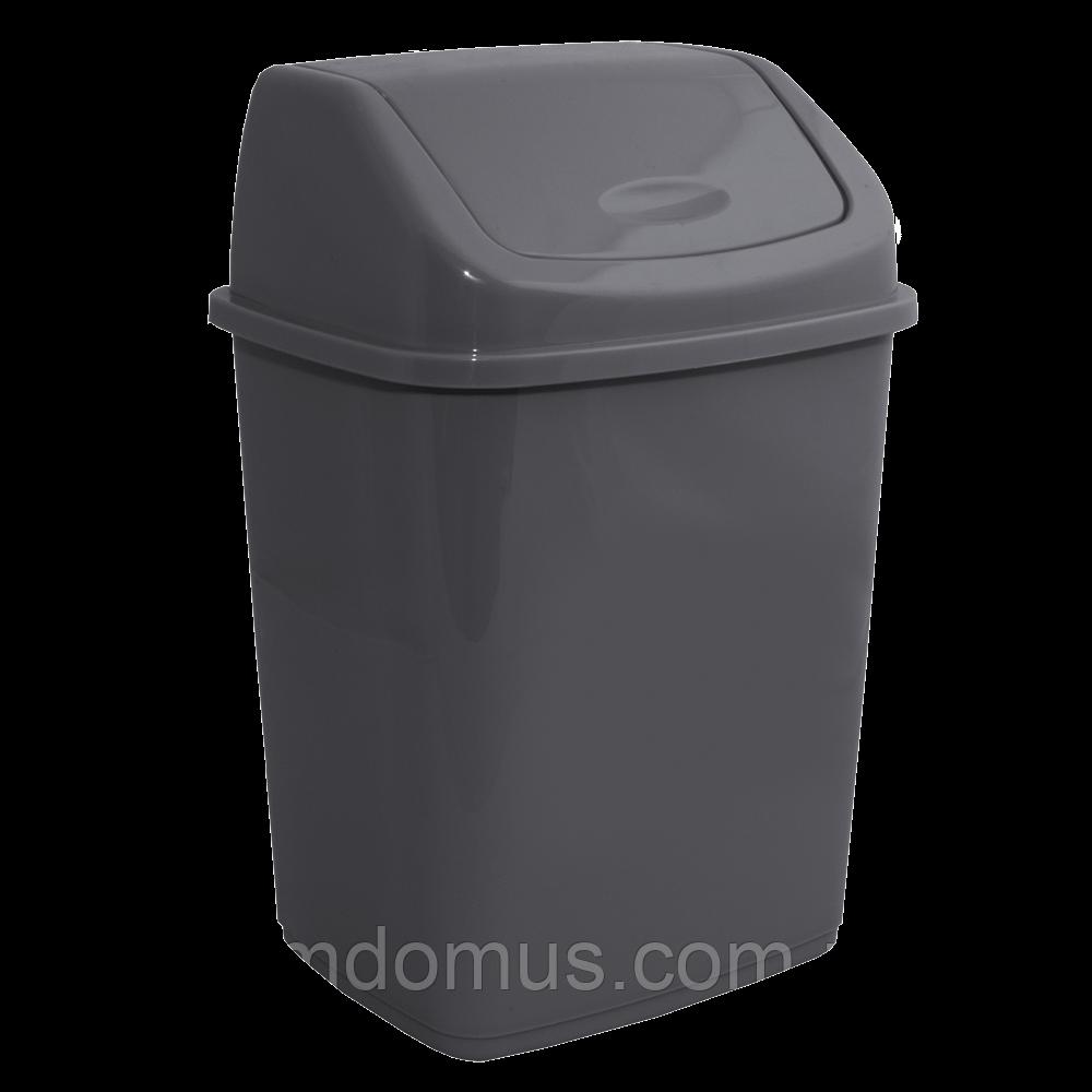 Ведро для мусора с поворотной крышкой 10 л  Алеана