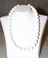 Ожерелье / Бусы из натурального Белого АГАТА