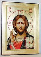 Икона греческая Спаситель ( Господь Вседержитель) золото
