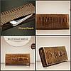 Женский кошелек с тиснением крокодила Banyanu красный, фото 5