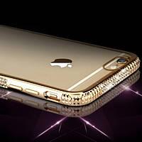 Силиконовый чехол для iPhone 6 6S бампер со стразами