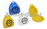 Футляр для боксерской капы ZEL BO-4278 (полипропилен, синий, желтый, прозрачный)