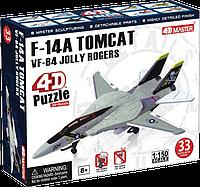 Объемный пазл 4D Master Истребитель-перехватчик F-14A VF-84 Jolly Roger - Веселый Роджер (26200)