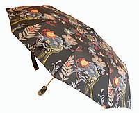Зонт автомат Антишторм Love Rain Веселые цветы черный