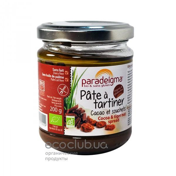 Паста из какао и тигрового ореха органическая Paradeigma 200г