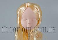 Голова куклы 4,5 см с светло-русыми волосами 15см/2пряди