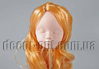 Голова куклы 4,5 см с русыми волосами 15см/2пряди