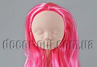 Голова куклы 4,5 см с розовыми волосами  25см