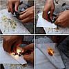 Браслет выживания 4 в 1 шнур лезвие огниво свисток, фото 5