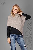 Стильная женская накидка-свитер с хомутом