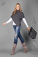 Оригинальная женская накидка-свитер с хомутом
