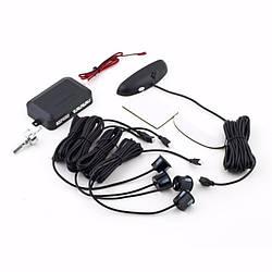 Парктронік автомобільний на 4 датчика +LCD, чорні датчики (4903)