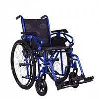 Универсальная инвалидная коляска OSD Millenium ІІІ (STB - синяя) + насос