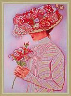 """Схема для вишивки бісером """"Пані з квіткою"""""""