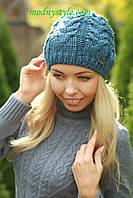 Женская вязаная шапка