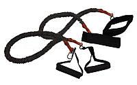 Набор эспандеров для фитнеса FI-3018 (2 рез.жгута с различ. жестк. l-80см, защитный рукав)