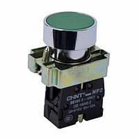 Кнопка NP2-BA31 металл 1NO AC 6V-230V Зеленый