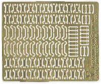 1:35 Замки крепления шанцевого инструмента, Vmodels 35015