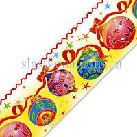 Лента кондитерская  Новогодние шары 6 см