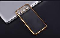 Силиконовый чехол для телефона Samsung J710 (J7 2016) gold, Electroplating TPU case