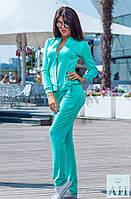 Женский спортивный костюм, кофточка на змейке