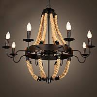 Подвесной светильник (Люстра) [ Classic LOFT Apartments ] (6 Lamp Edisons)