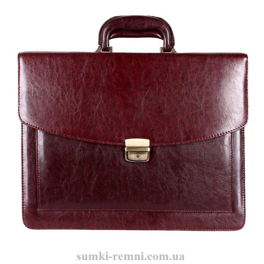 Мужской портфель темно-коричневого цвета