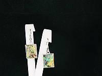 Серьги из галиотиса, прямоугольник