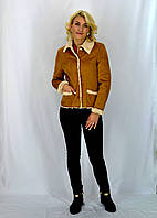 Молодёжная осенняя курточка из искусственной замши