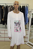 Ночная рубашка BONITA LOLA панна бело розовая (Италия)