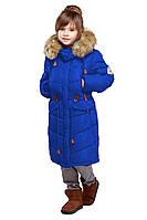 Оригинальная детская зимняя куртка с мехом енота