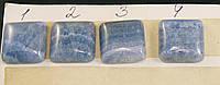 Кабошоны из голубого агата, квадрат